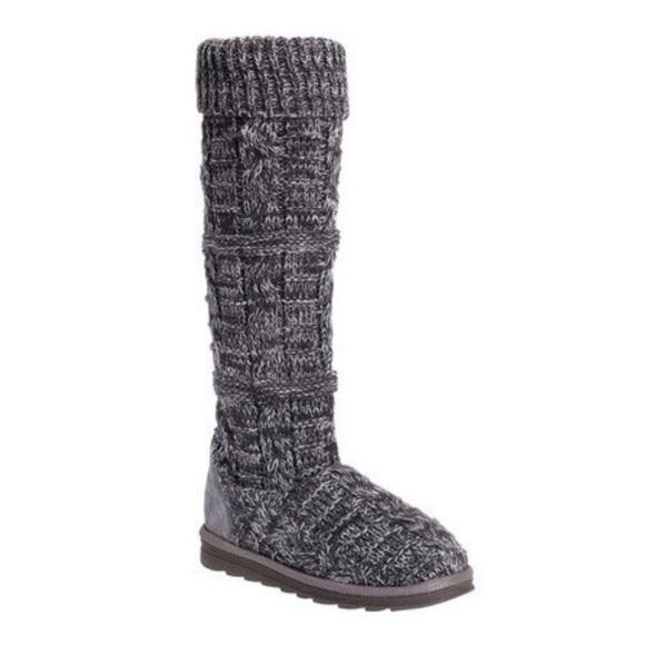Muk Luks Shelly Marl Knit Sweater Slouch Boot sz7